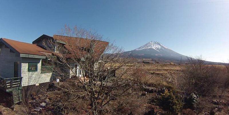 富士ケ嶺の我が家からの富士