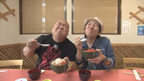 海鮮丼と2人