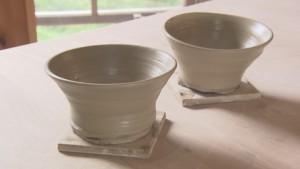 ろくろで陶器作り
